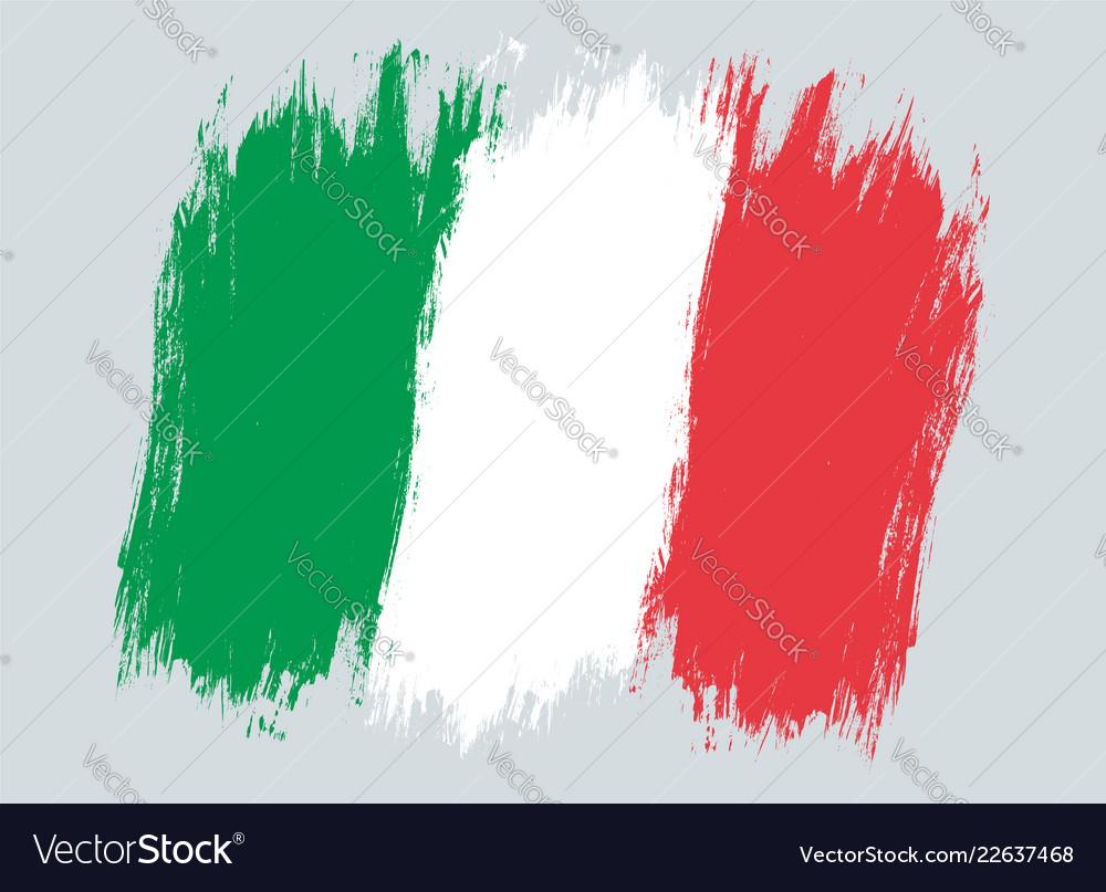 Vintage italian flag drawing flag of italy