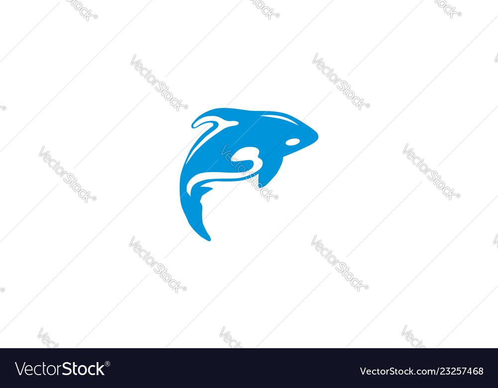 Whale logo icon