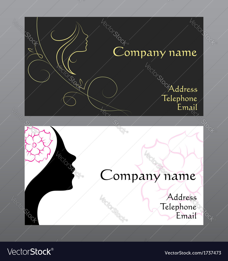 Business card for hairdressers royalty free vector image business card for hairdressers vector image reheart Choice Image