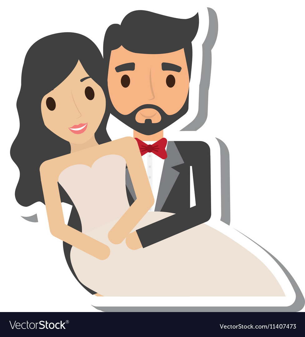 Just married couple character