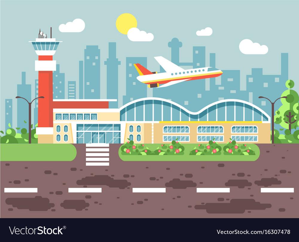 cartoon airport late delay royalty free vector image rh vectorstock com cartoon airport building cartoon airport runway