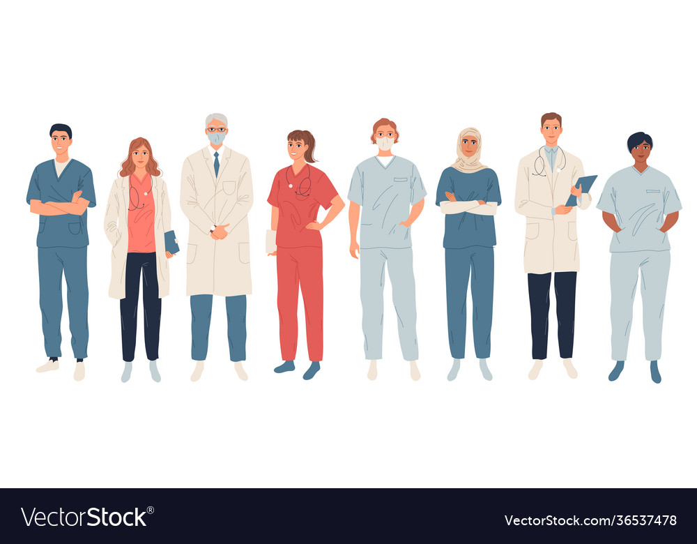 Doctors medical workers medics and nurses