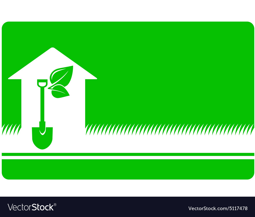 green landscaping business card vector image - Landscaping Business Cards