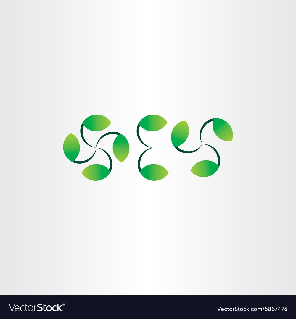 Green leaf decoration set
