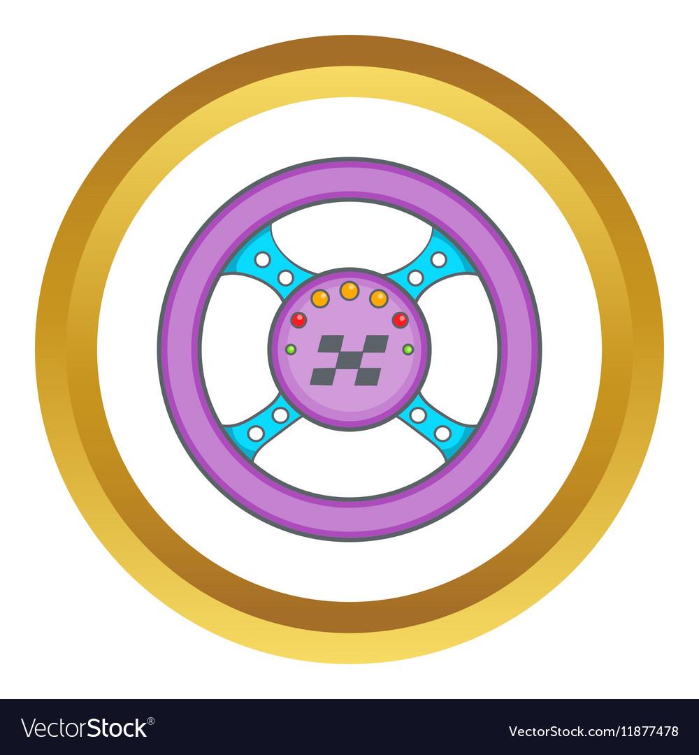 Racing rudder icon vector image