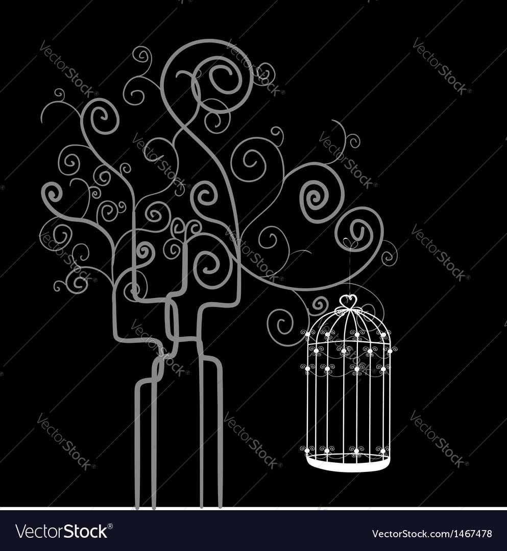 Swirl tree bird cage