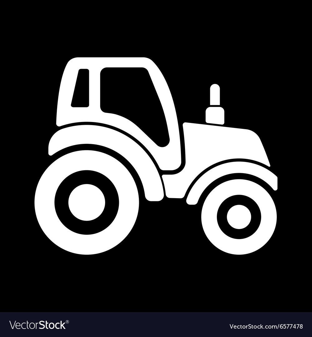 The tractor icon Agrimotor symbol Flat