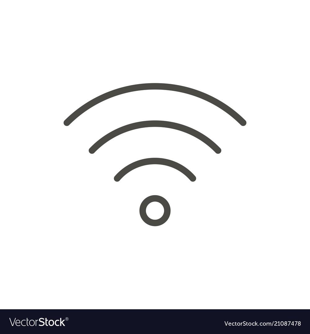 Wifi outline icon wireless line symbol