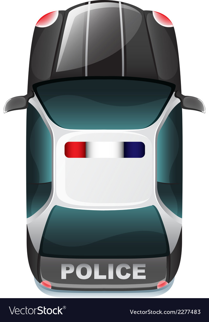 A police vehicle vector image