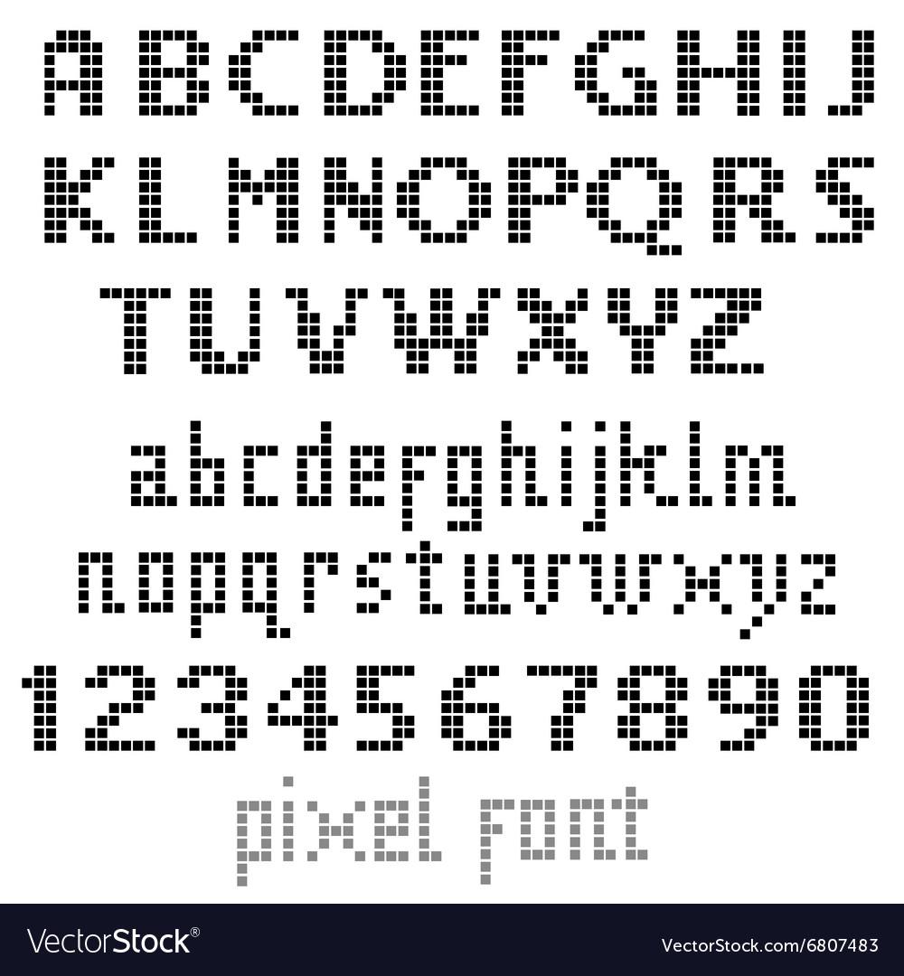 Big pixel font