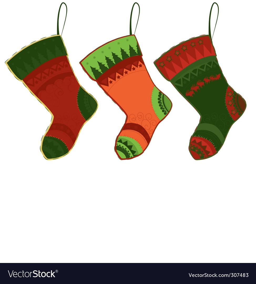 Christmas Stockings on Christmas Stockings Vector 307483 By Lindwa