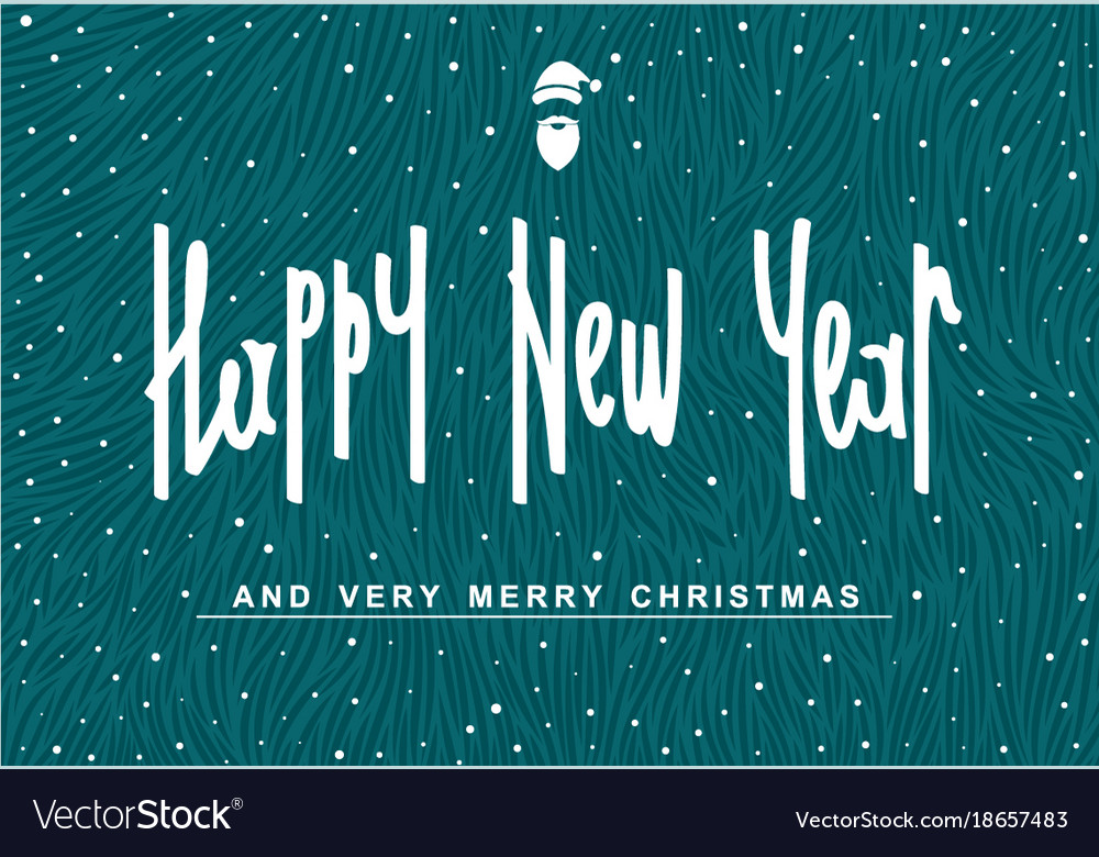 Happy new year and very merry christmas