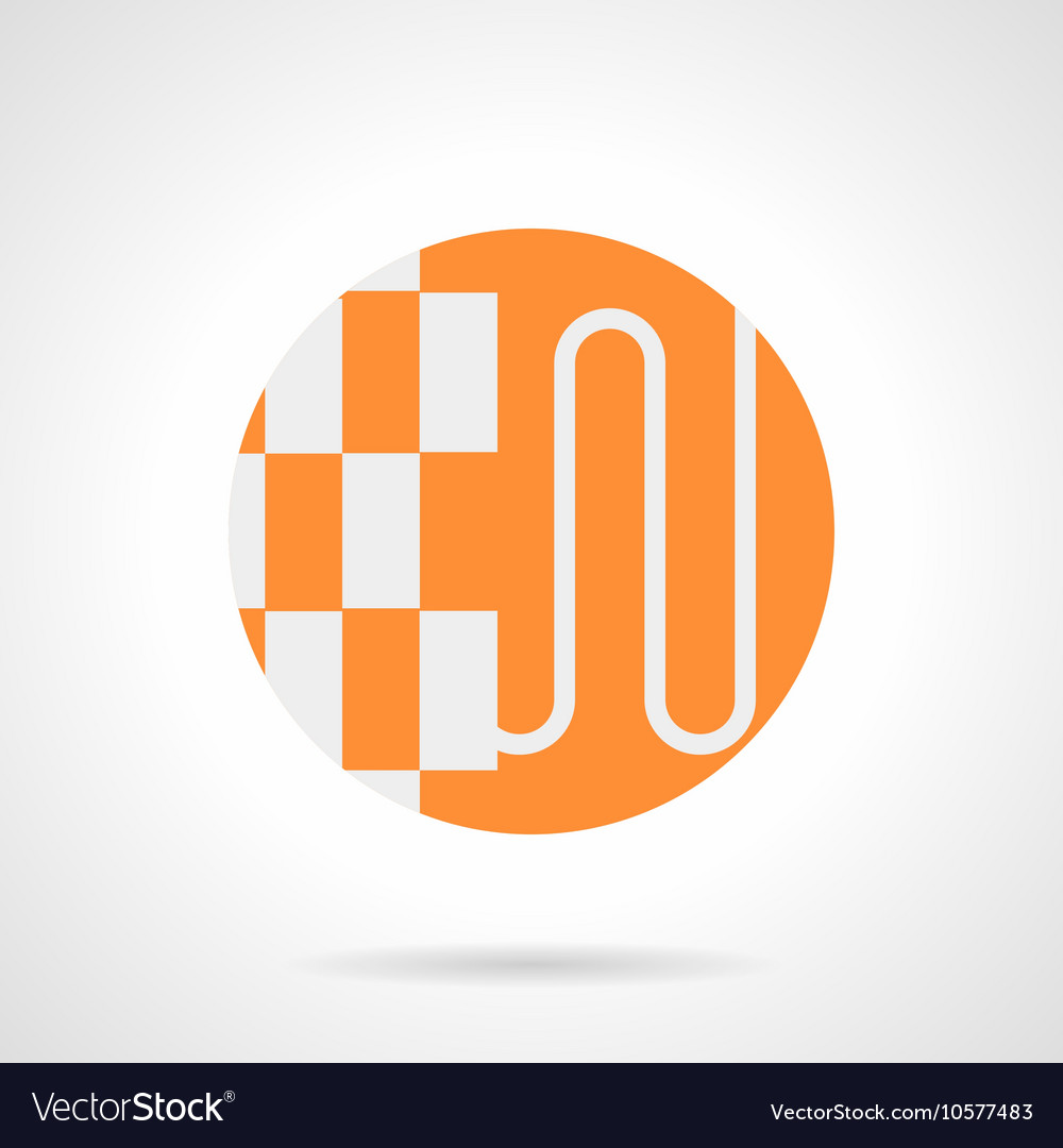 Heat-insulated floor orange round icon vector image