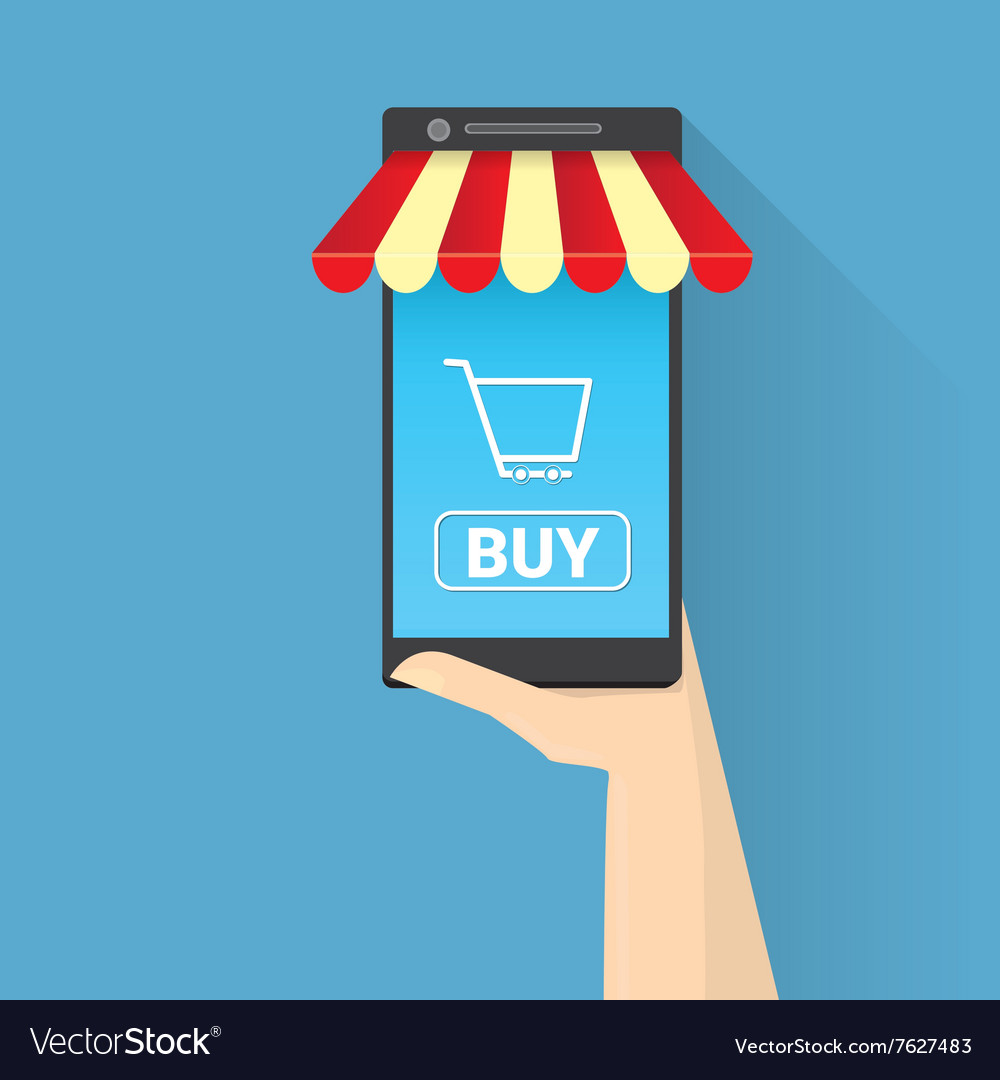 Mobile online shopping concept
