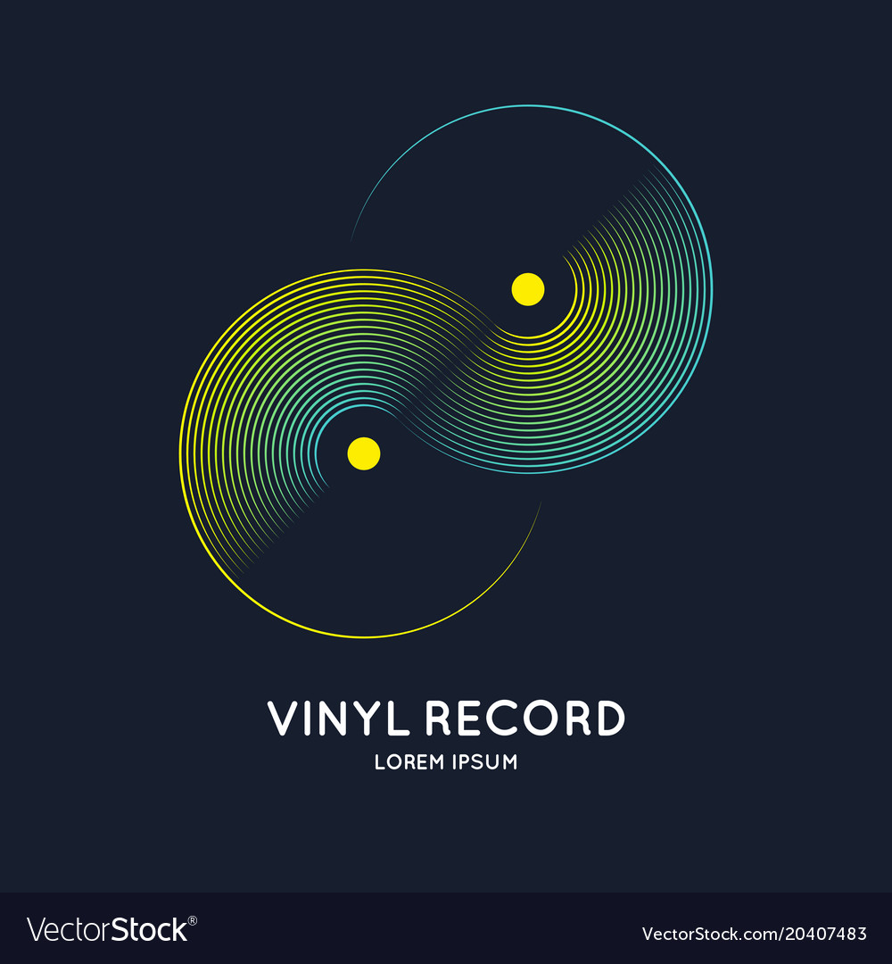 Poster of the vinyl record music on
