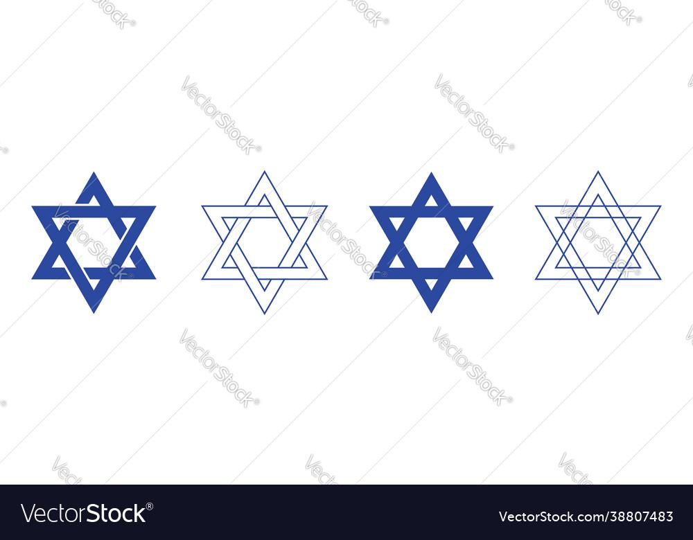 Star david icon jewish jew hexagram icon
