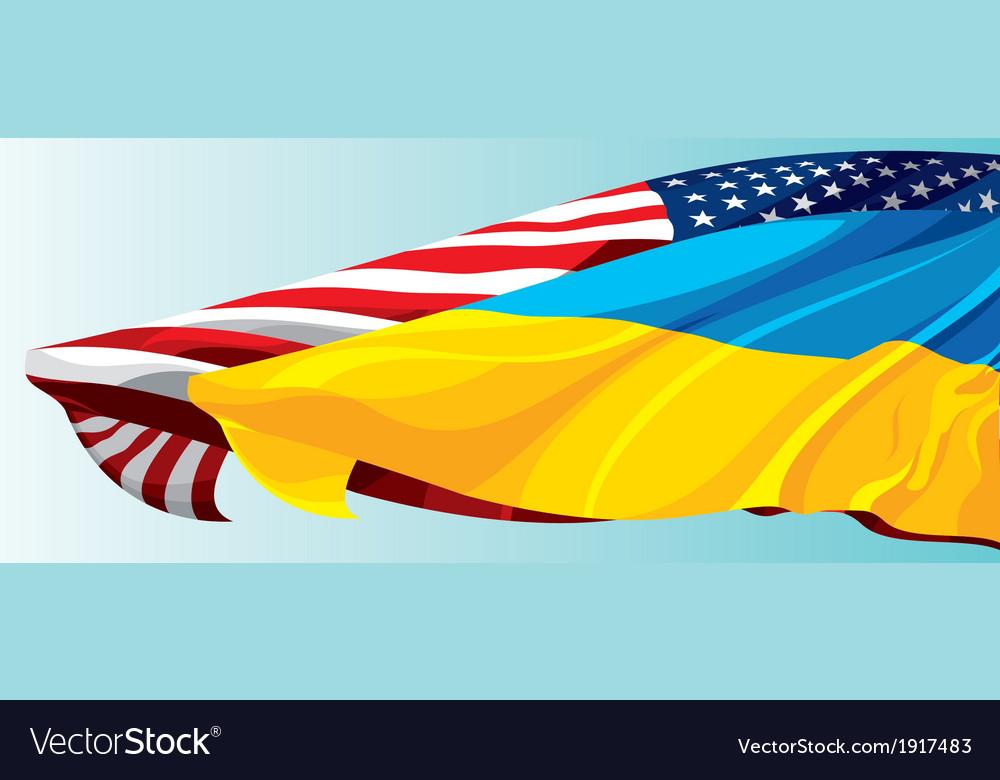 USA UKRAINE FLAG vector image
