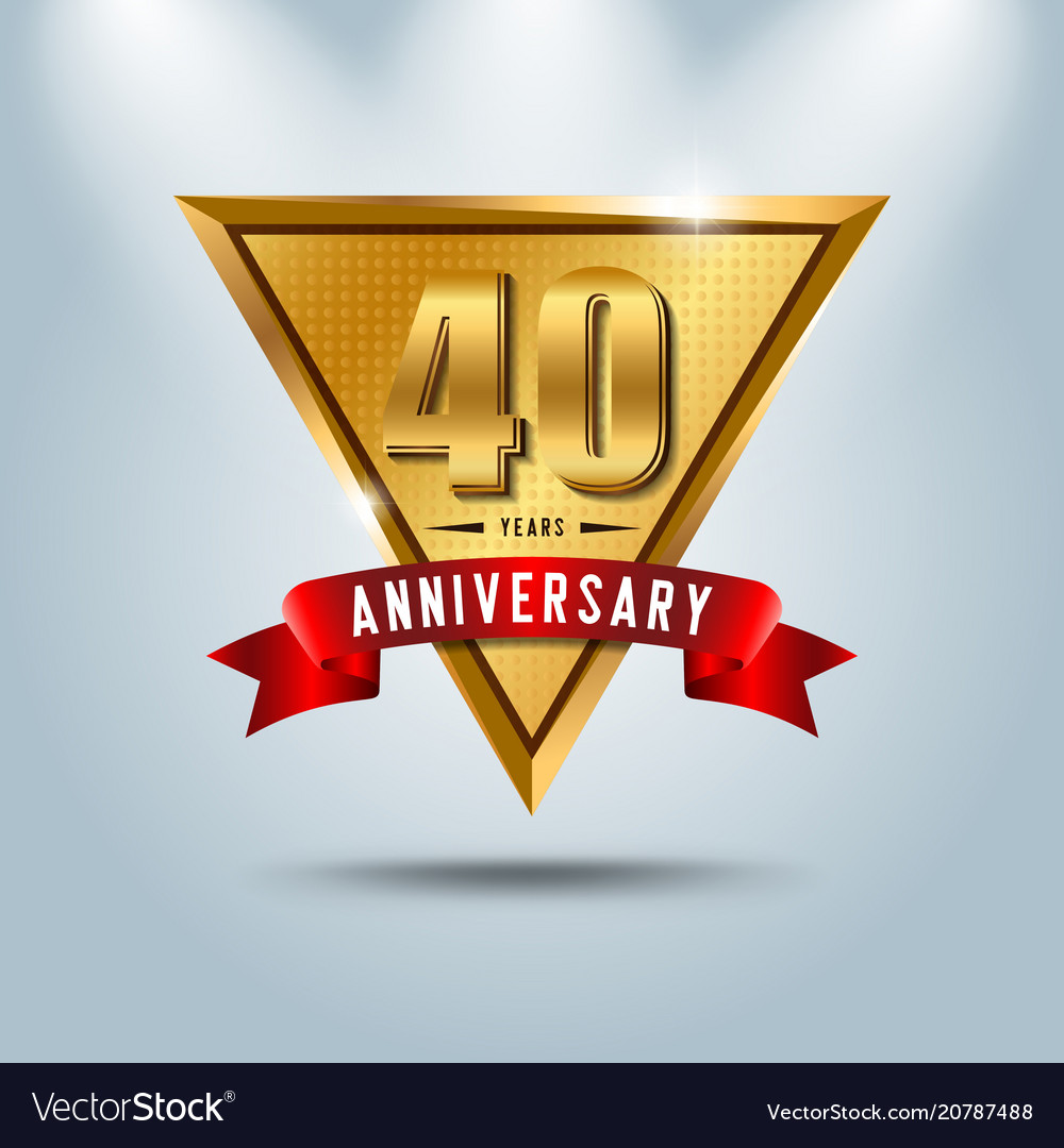 40 years anniversary celebration logotype