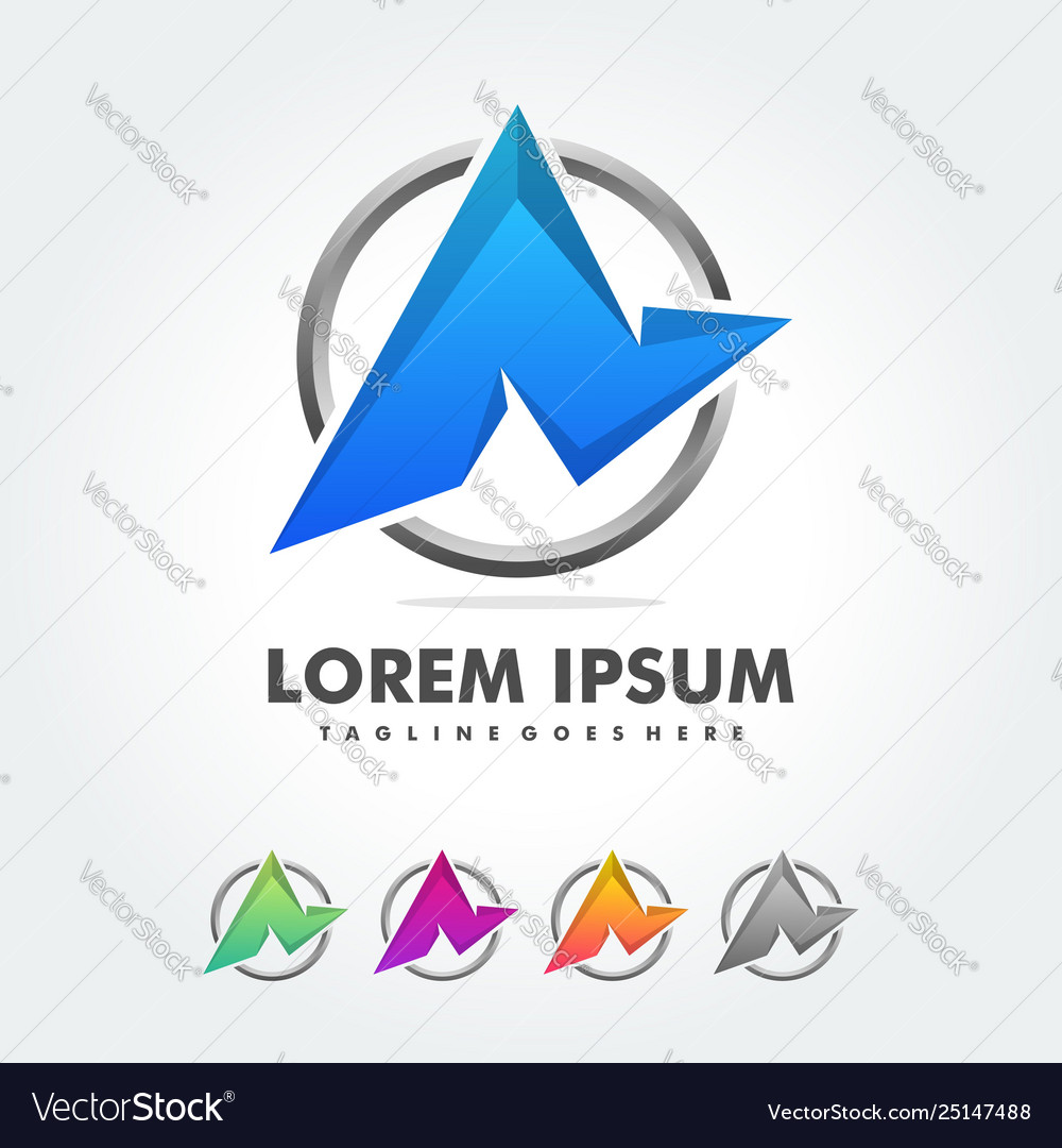 A letter logo icon colorful abstract mosaic