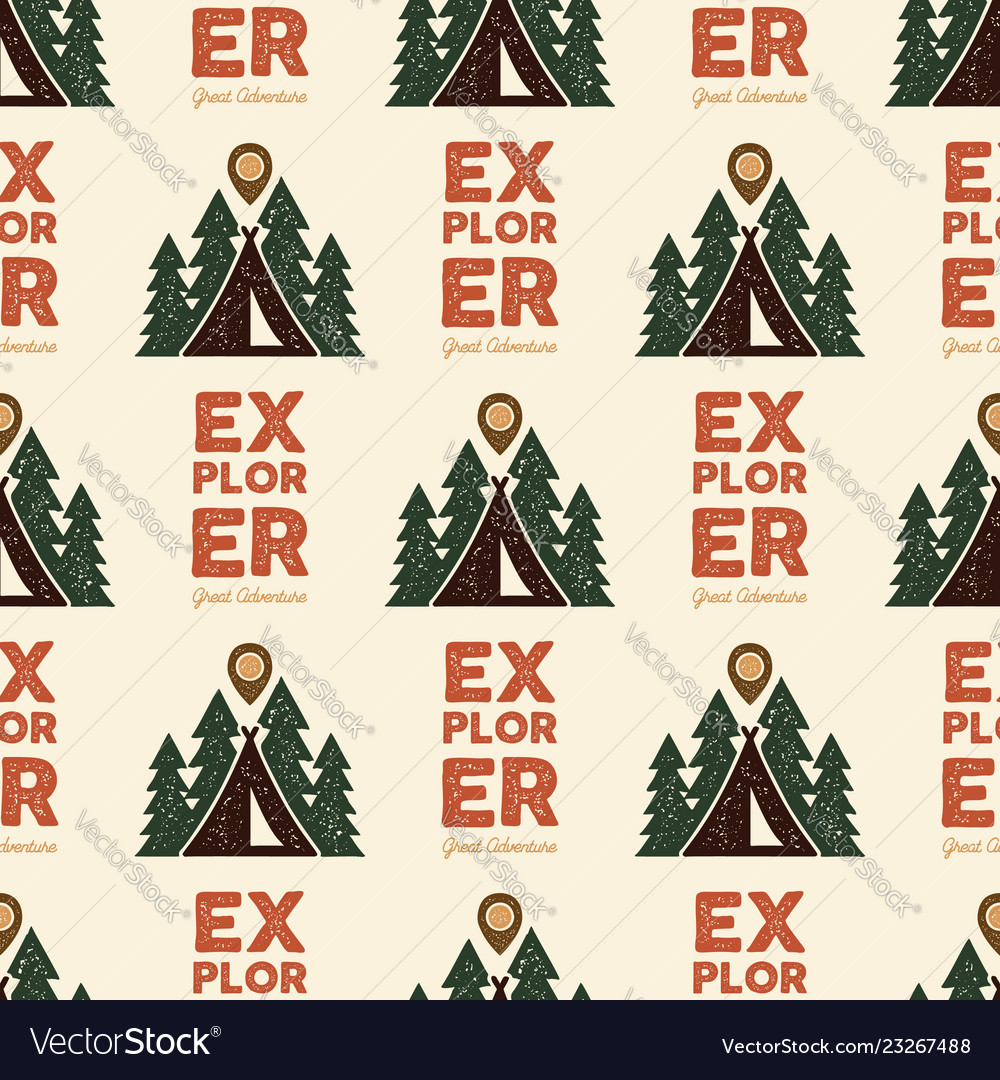 Camping explorer pattern design - outdoors