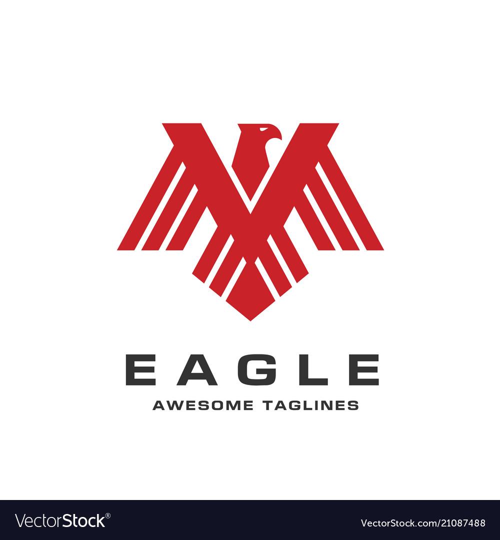 Eagle head logo template