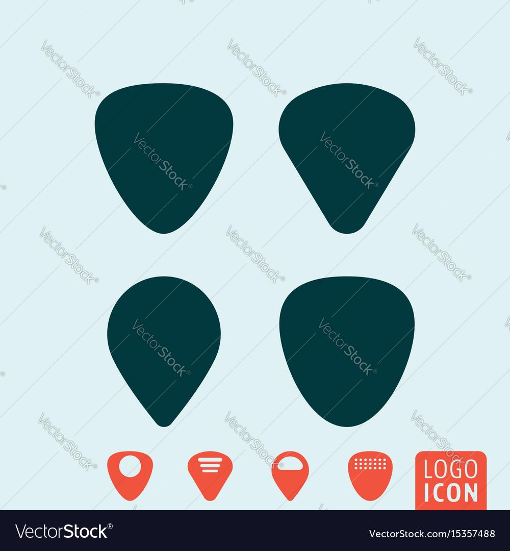 Guitar pick or plectrum vector image