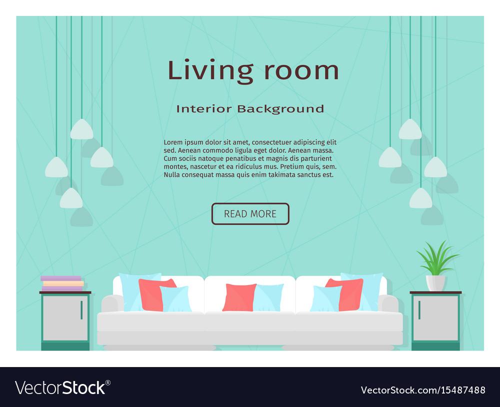 Modern living room interior banner for your web