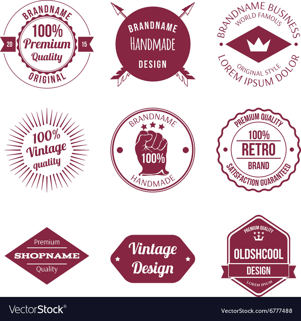 Set of Brand Design Badge and Label