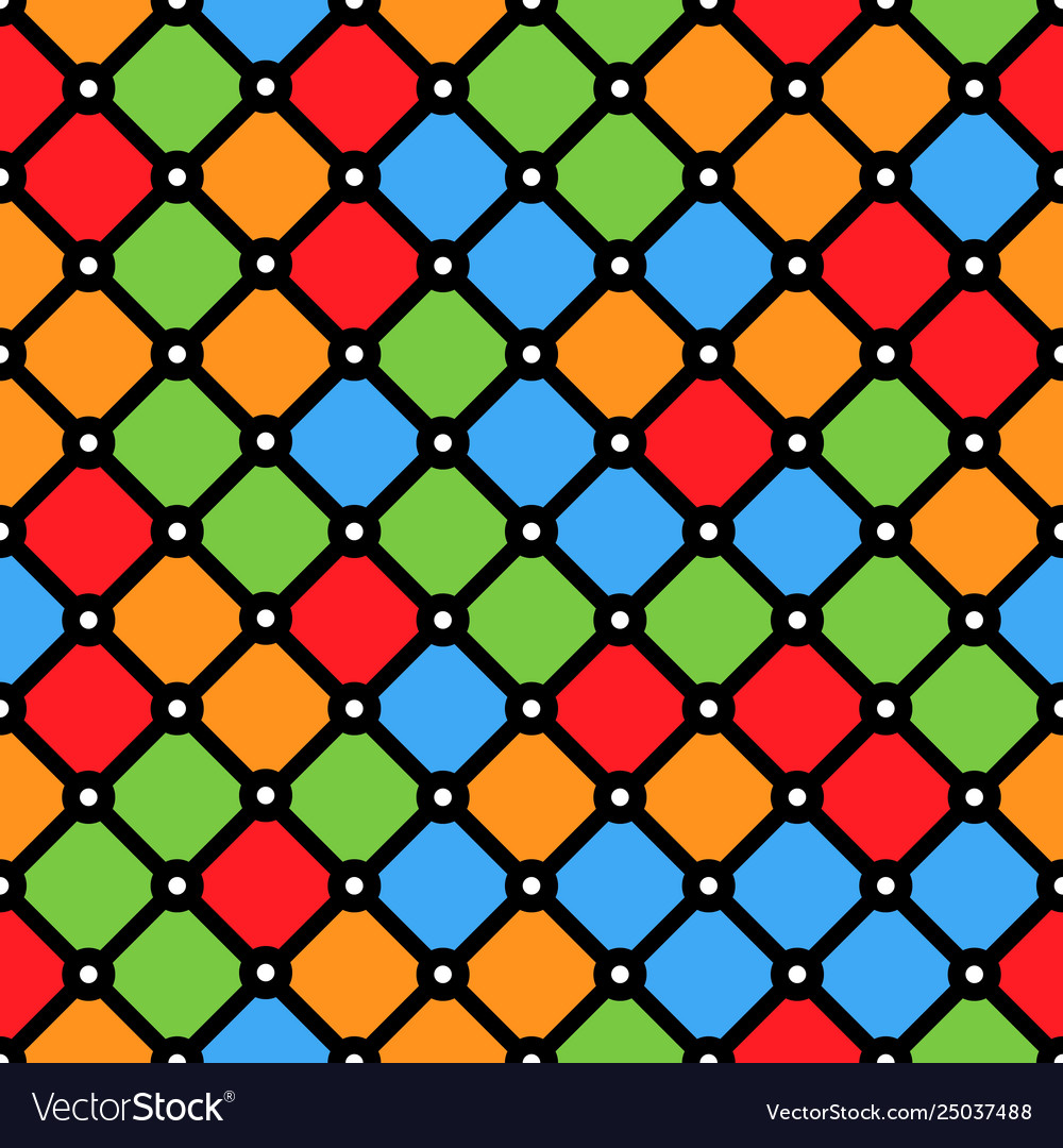 Stained-glass window pattern with simple geometric