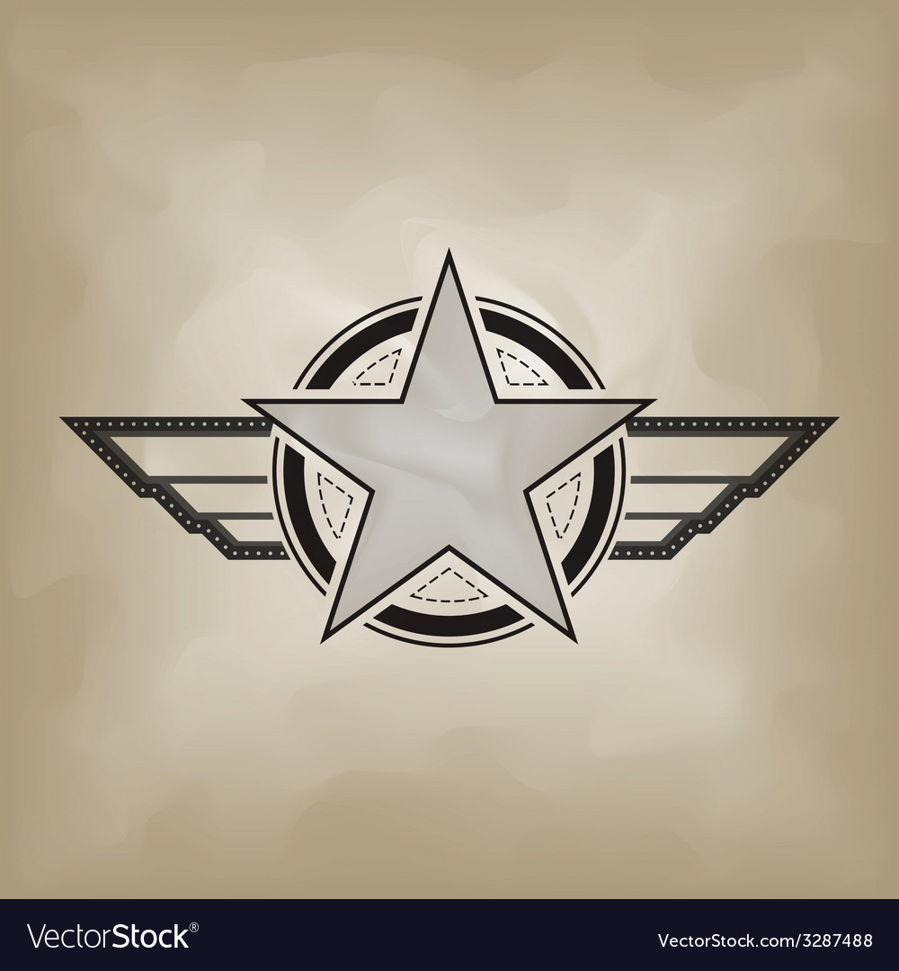 Star Symbol Airforce Military Concept Royalty Free Vector