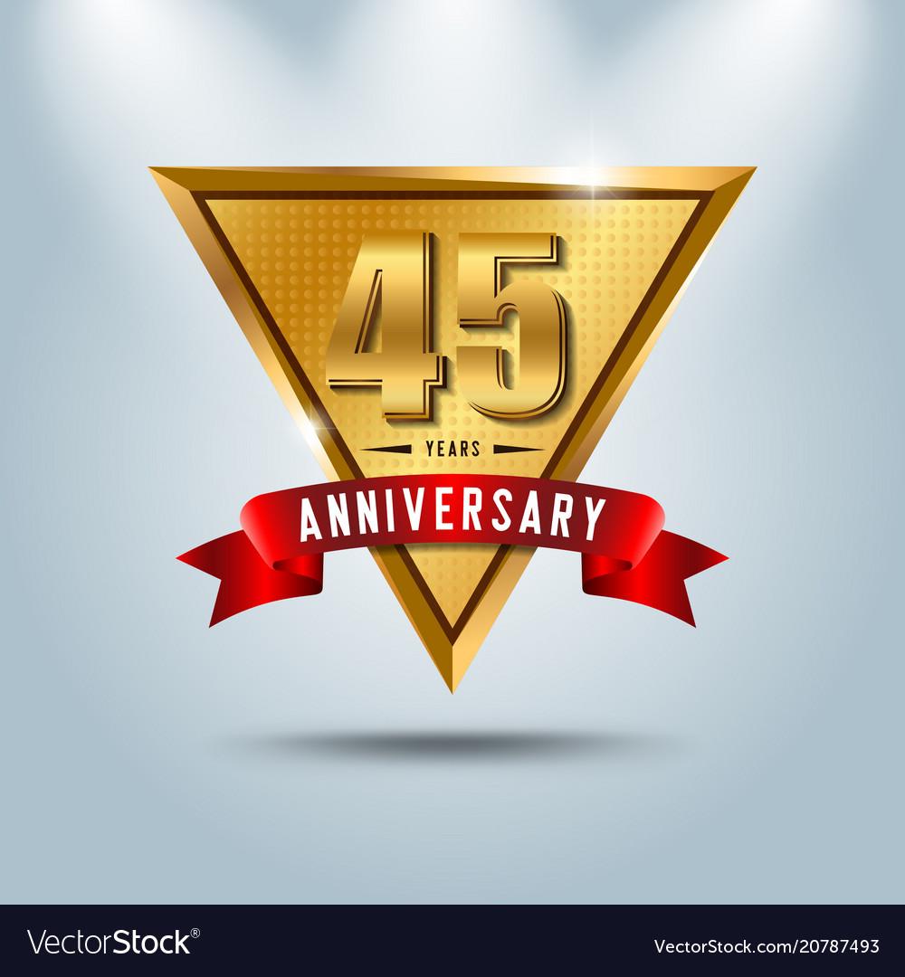 45 years anniversary celebration logotype