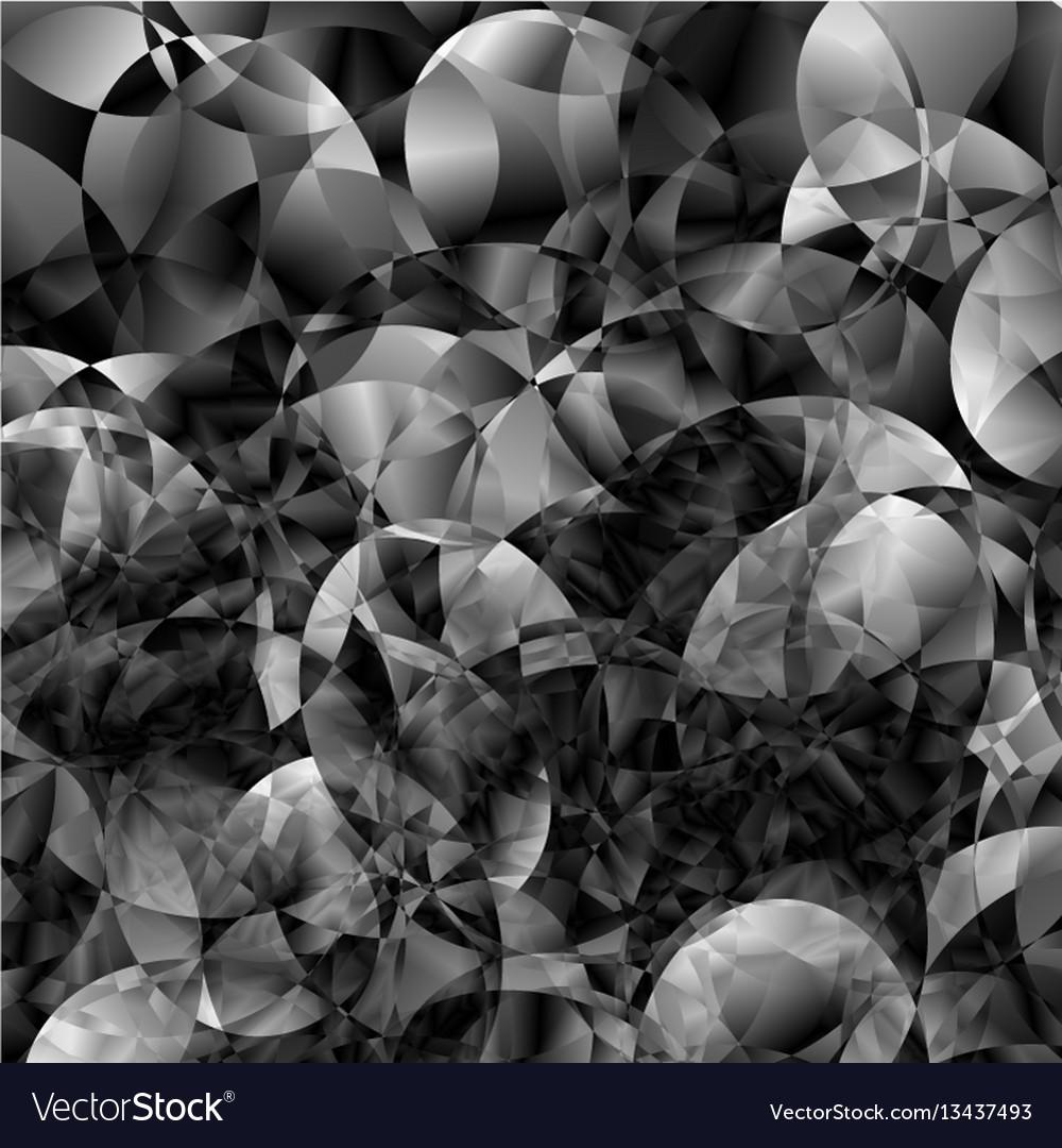 Abstract blackandwhite metal glitch circular