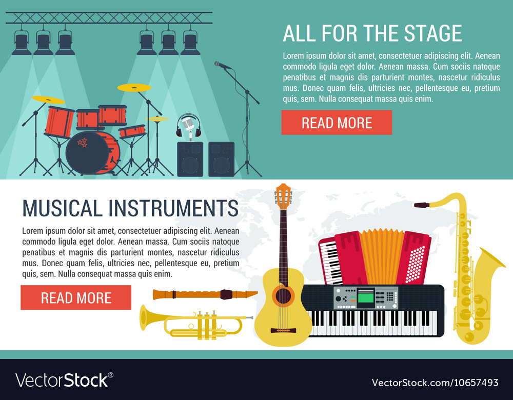 Banners of musical Instruments I