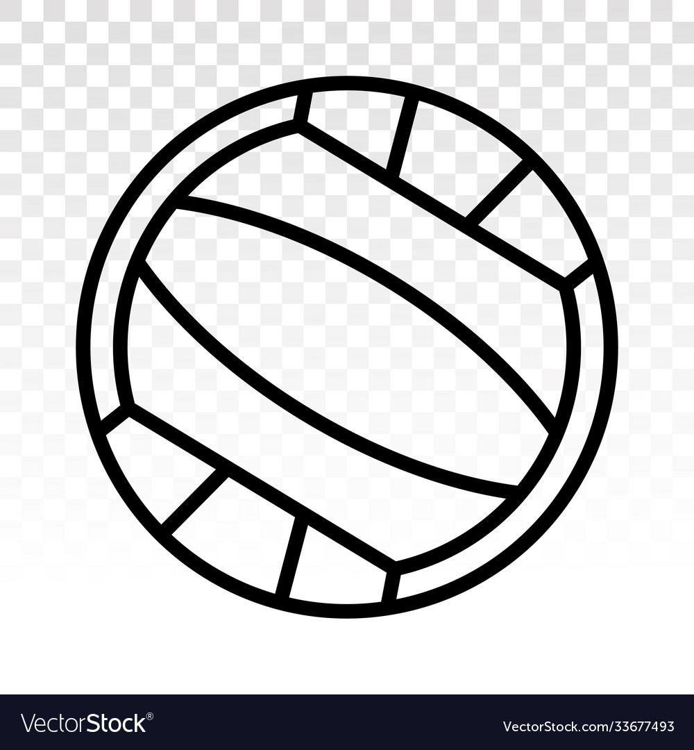 Beach volleyball ball line art icons on a