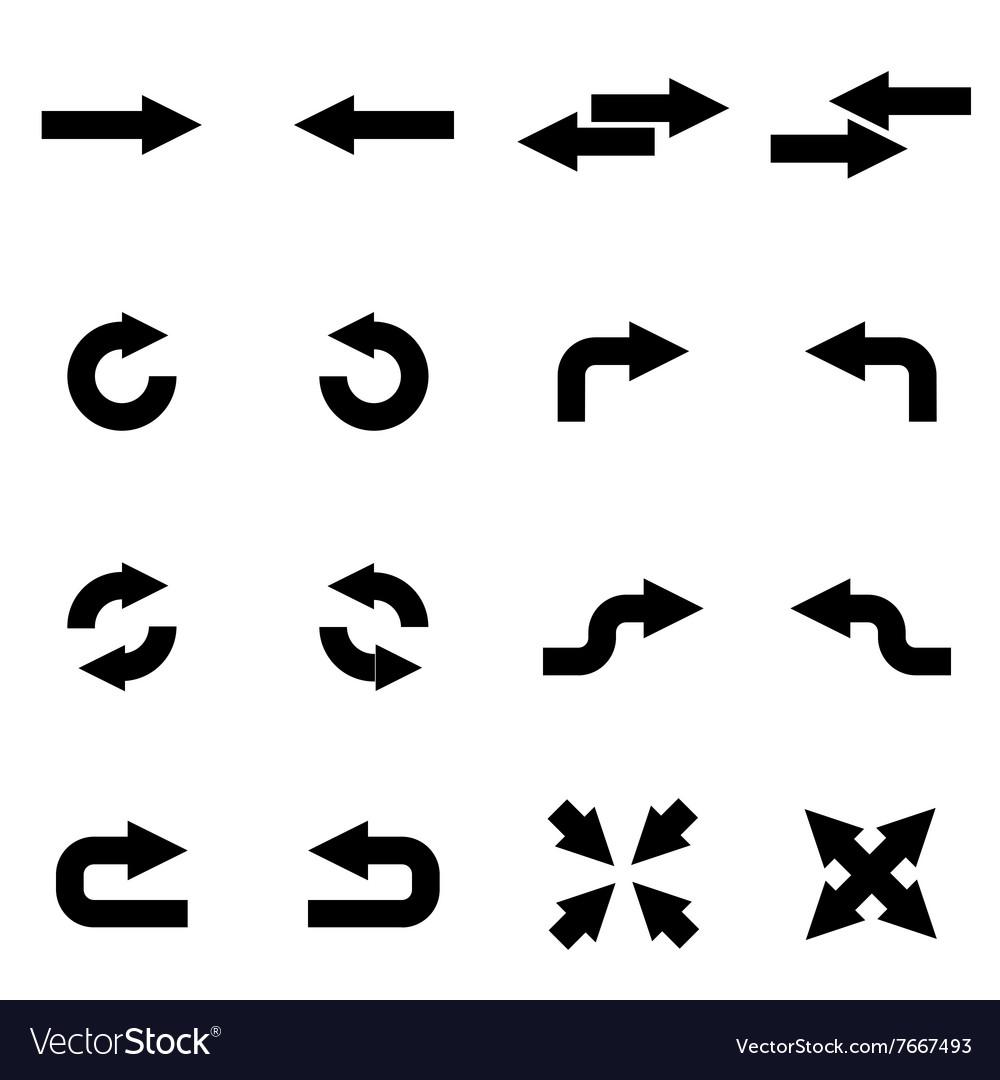 Black arrows icon set
