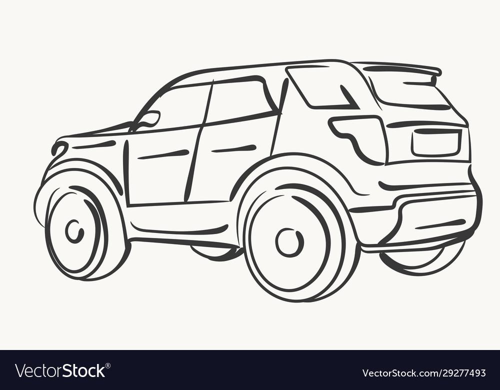 Car simple modern automobile