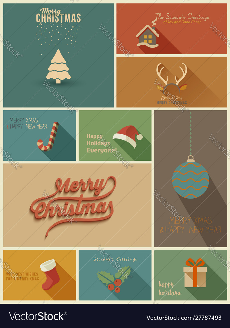 Collection holidays cards