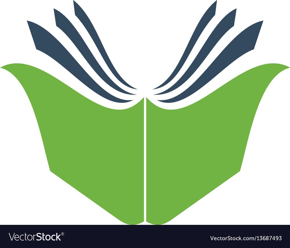 Creative open book logo