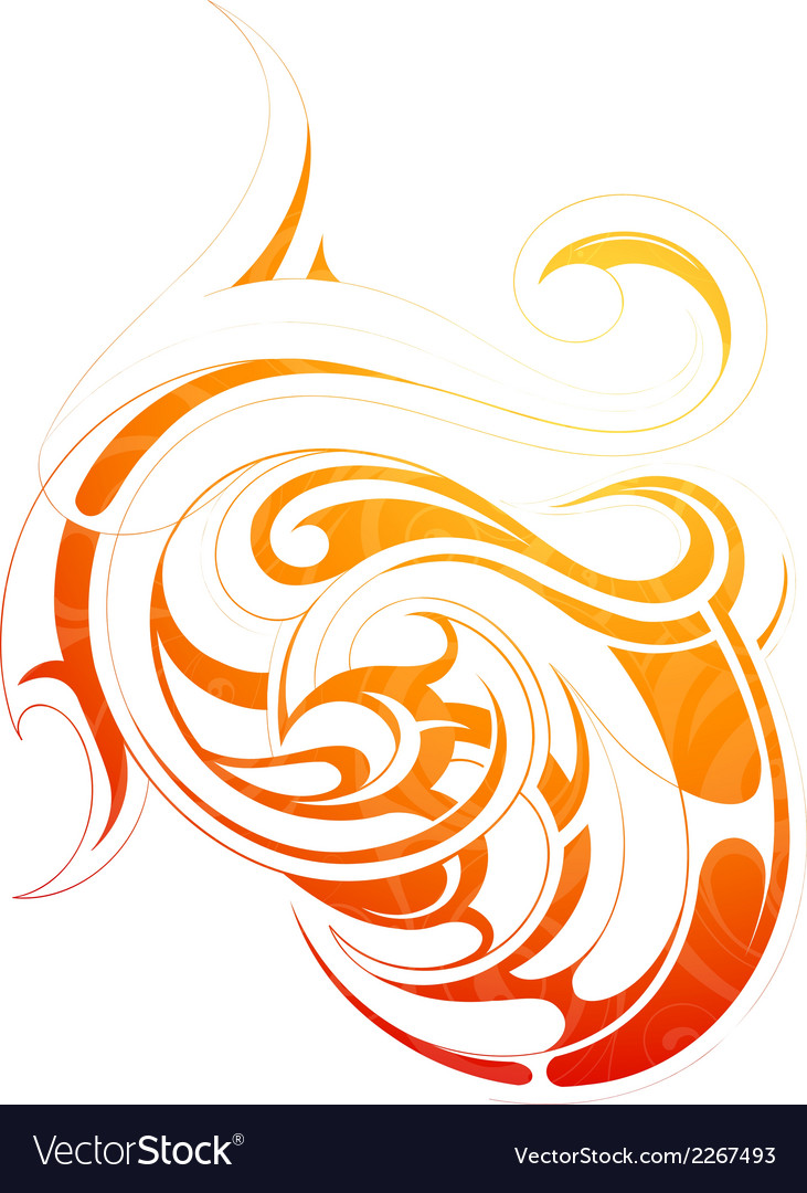Fire flame tattoo as graphic design element
