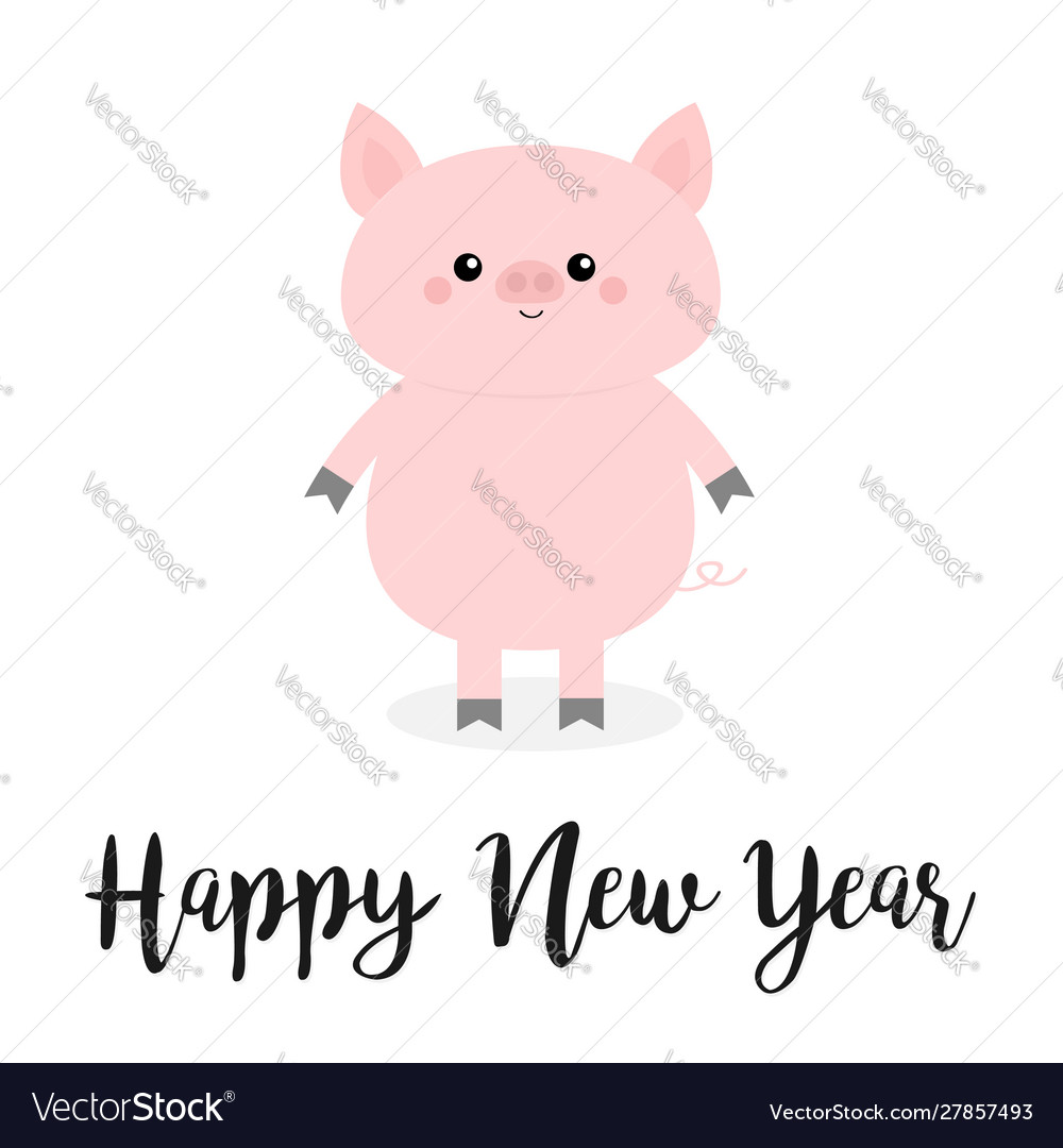 Happy new year pig pink piggy piglet chinise