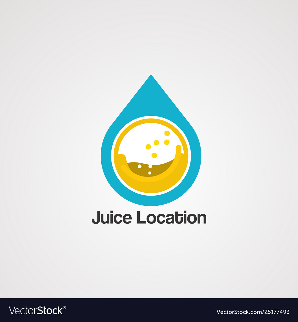 Juice location logo templateicon and template
