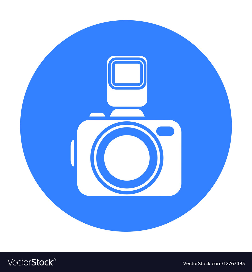 Photo camera icon of for web