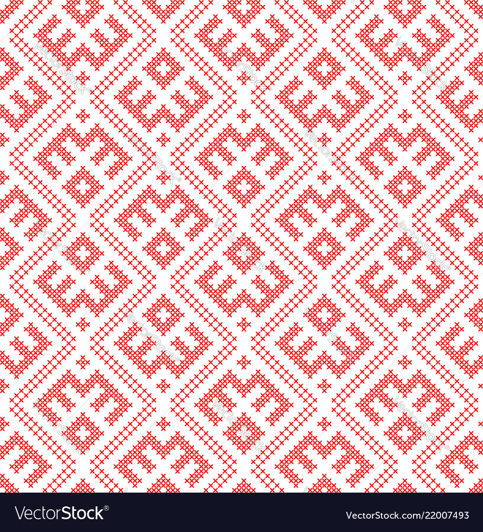 Seamless pattern based on traditional russian and