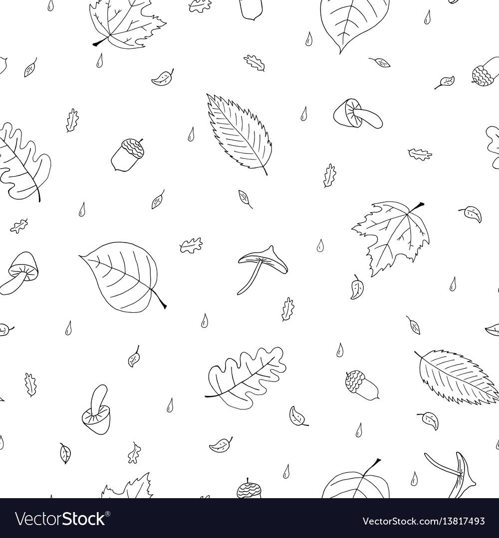 Seamless pattern of atumn elements