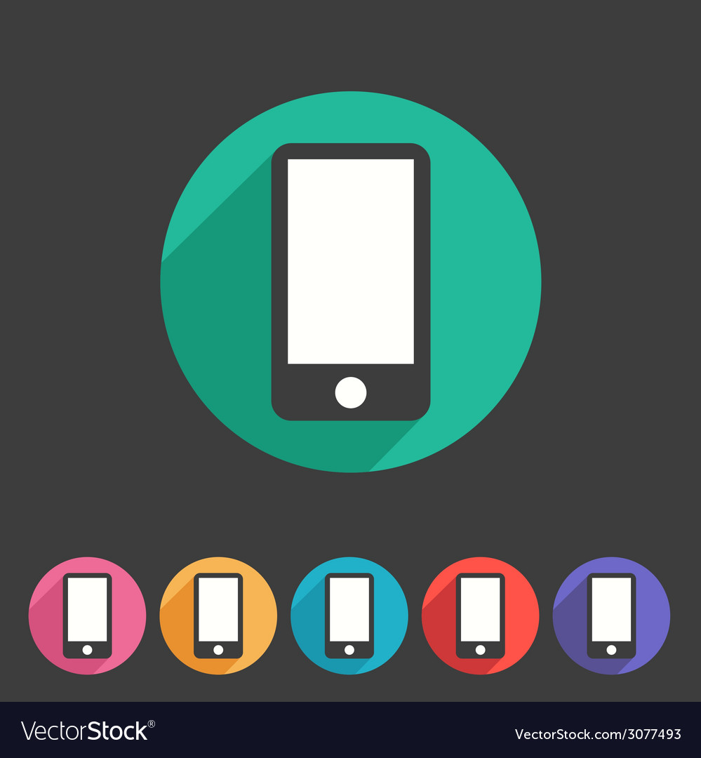 Smartphone tablet flat icon badge