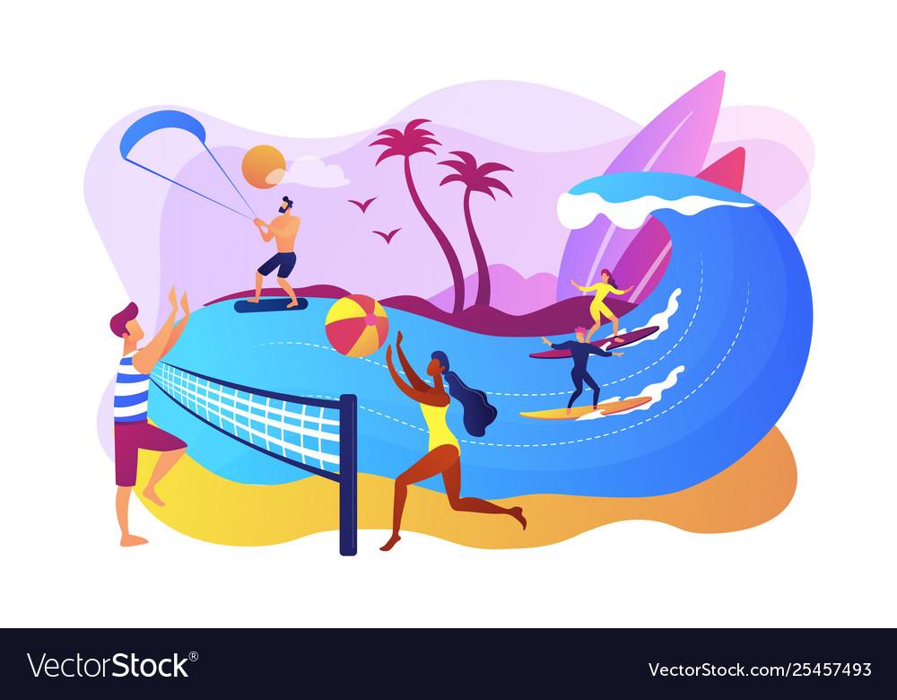 Summer beach activities concept
