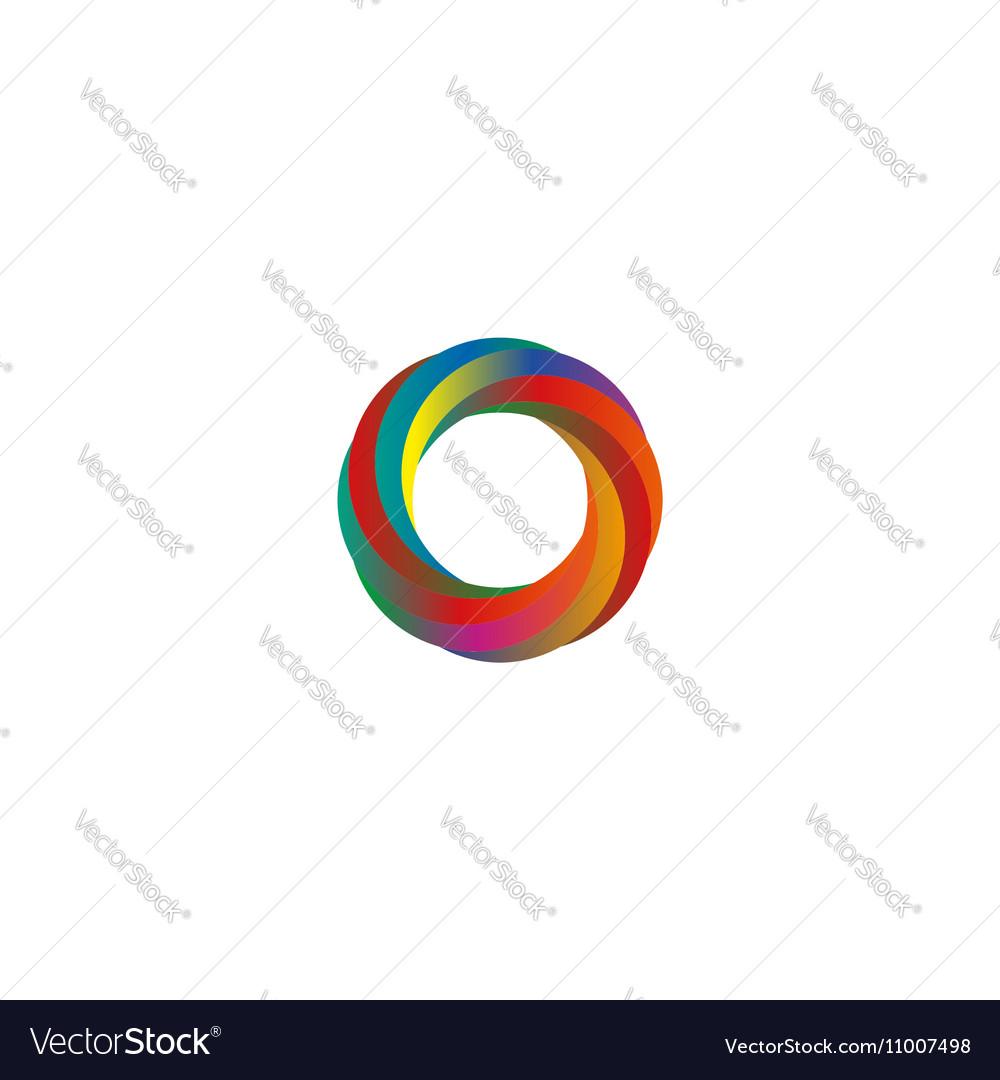 Abstract colored segments circle logo mockup idea