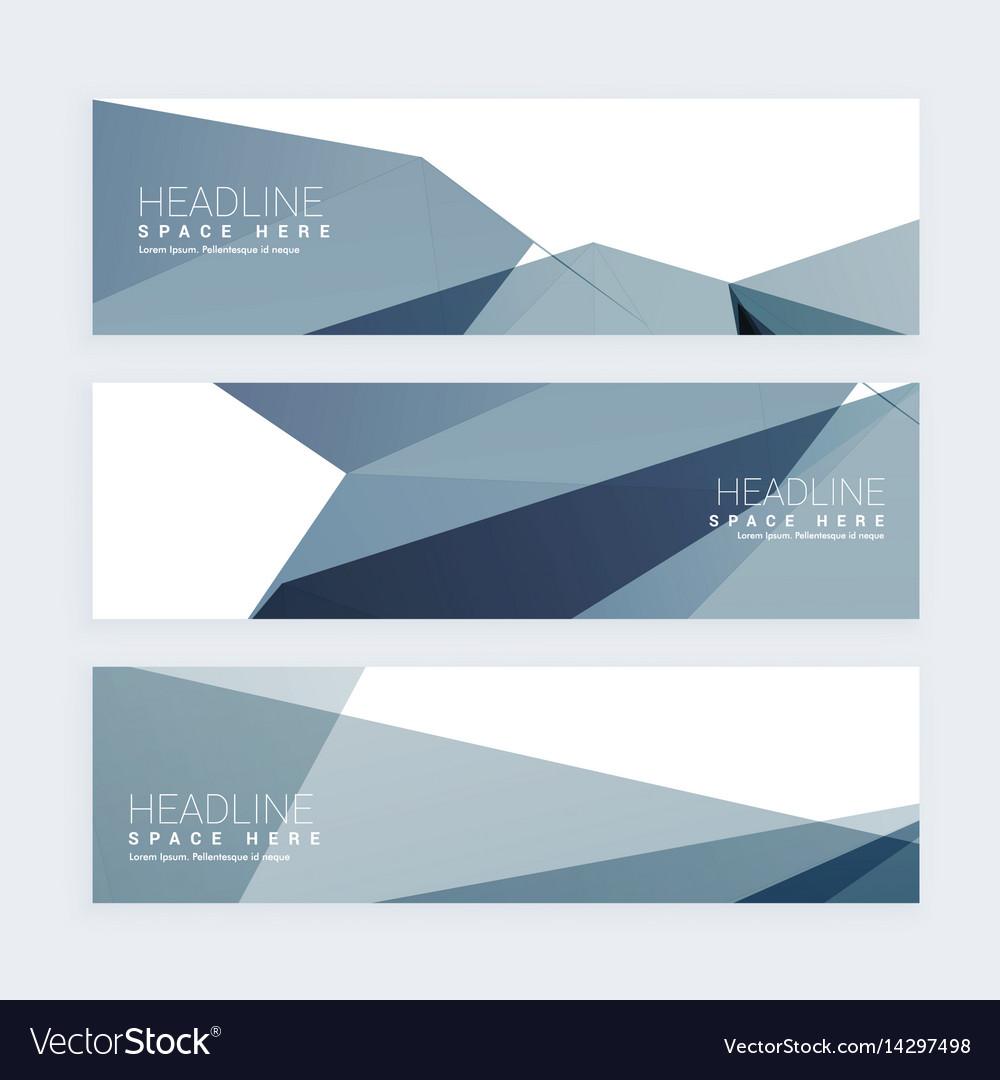 Abstract web header set of three