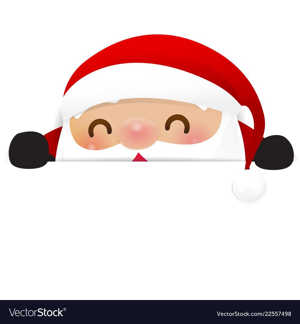 Christmas snowman santa claus cartoon smile on