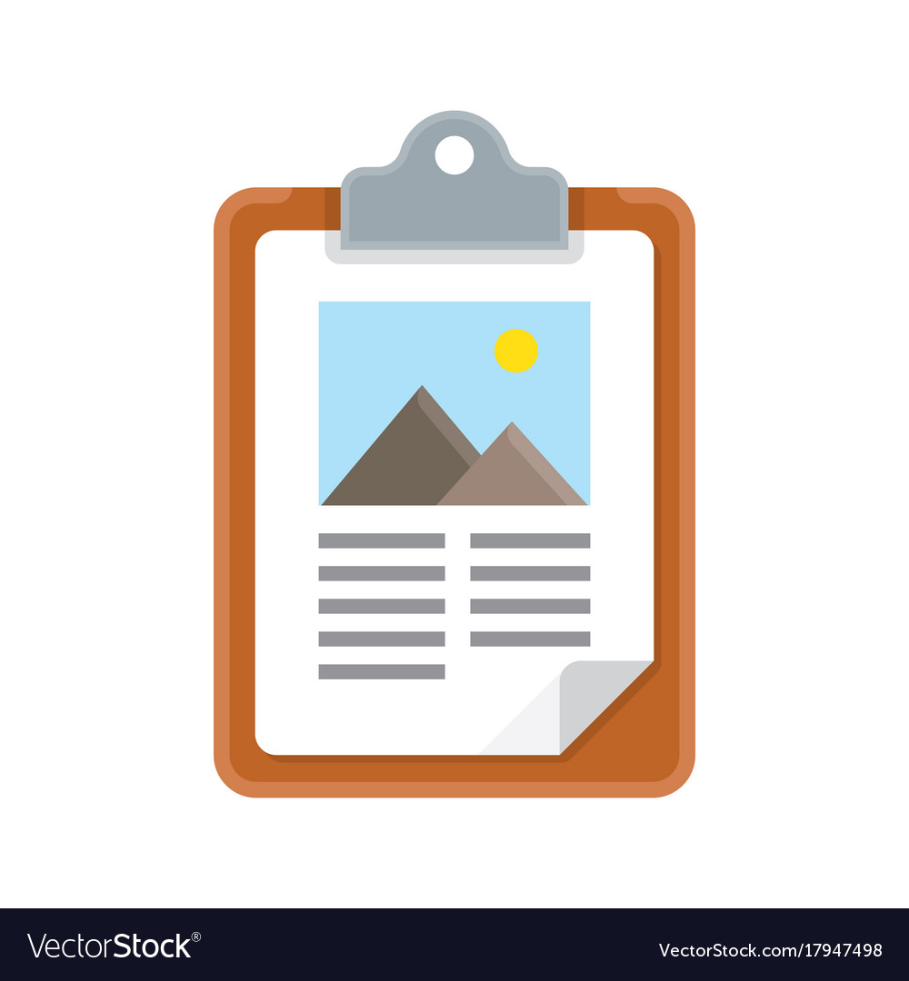 Clipboard icon with flat design